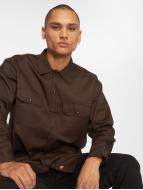 Dickies Longsleeve Work Shirt Dark Brown