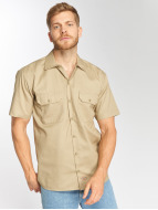 Dickies Shirt Shorts Sleeve Work khaki
