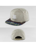 Djinns Casquette Snapback & Strapback Indo Spots 6 Panel gris