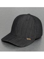 Djinns Flexfitted Cap Linen A-Flex zwart