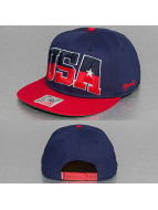 Djinns Snapback Cap Team USA 6 Panel blau