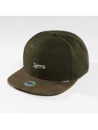 Djinns Snapback Cap 6 Panel Piki Leather brown