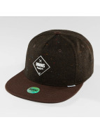 Djinns Snapback Cap 5 Panel Fel Rubber brown