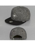 Djinns Snapback Cap Rubber Tweed grau