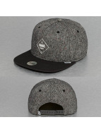 Djinns Snapback Cap Rubber Tweed grey
