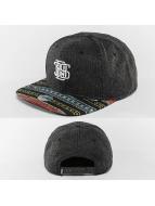 Djinns snapback cap Indo Spots 6 Panel zwart