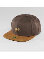 Djinns Snapback Caps Metal Linen 6 Panel brun