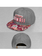 Djinns Snapback Caps Denim Aloha 6 Panel grå
