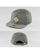 Djinns Snapback Caps Flannel 6 Panel grå