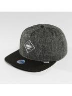 Djinns Snapback Caps 5 Panel Fel Rubber grå