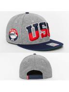 Djinns Snapback Caps Team USA harmaa