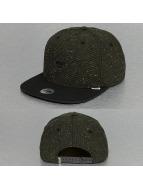 Djinns Snapback Caps Rubber Tweed oliivi