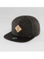 Djinns Snapback Caps Flannel 6 Panel svart