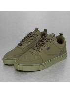 Djinns sneaker Forlow Monochrome olijfgroen