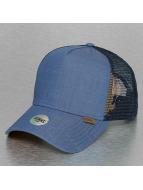 Djinns Trucker Cap Linen 2014 High Fitted blu