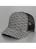 Djinns Trucker Cap Rubber Tweed High Fitted grau