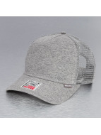 Djinns Cut & Sew High Fitted Trucker Cap Grey Heather