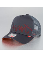 Djinns Trucker Cap Burned Spots High gray