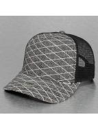 Djinns trucker cap Rubber Tweed High Fitted grijs
