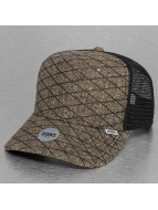 Djinns Trucker Cap Rubber Tweed High khaki