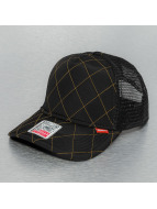 Djinns Trucker Cap Hunter High Fitted nero