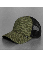Djinns Trucker Cap Geometric High Fitted olive