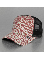 Djinns trucker cap Geometric High Fitted rood