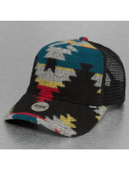 Djinns Trucker Cap Aztec Felt High Fitted schwarz