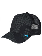 Djinns Camou High Fitted Trucker Cap Black