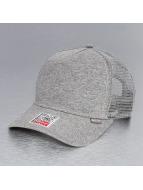 Djinns Cut & Sew High Fitted Trucker Cap Grey Heather