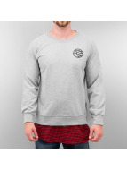 DreamTeam Clothing Пуловер Checked серый