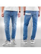 DreamTeam Clothing Skinny Jeans Sven niebieski