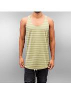 DreamTeam Clothing Tanktop Stripe olijfgroen