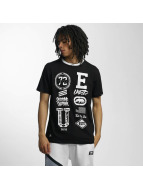 Ecko Unltd. t-shirt College Patches zwart