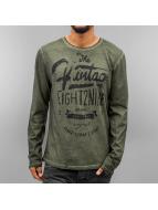Eight2Nine Camiseta de manga larga Stay True oliva