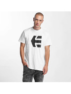 Etnies T-Shirty Icon Fill bialy
