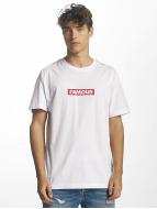 Famous Stars and Straps T-shirt Famous Box Logo bianco