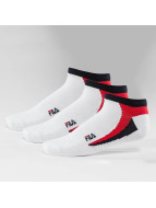 FILA Chaussettes 3-Pack Invisible blanc