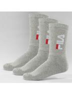 FILA Chaussettes Tennis 3-Pair gris