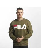 FILA Swetry Urban Line Classic Logo oliwkowy