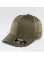 Flexfit Flexfitted Cap Wooly Combed olijfgroen