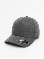 Flexfit Flexfitted Cap Heringbone Melange schwarz