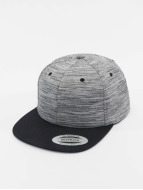 Flexfit Snapback Cap Stripes Melange Crown gray