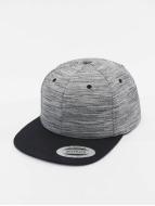 Flexfit Snapback Cap Stripes Melange Crown grey