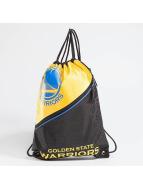 Forever Collectibles NBA Diagonal Zip Drawstring Golden State Warriors Gym Bag Black/Yellow