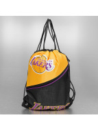 Forever Collectibles Pouch NBA Diagonal Zip Drawstring LA Lakers black