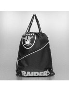 Forever Collectibles Pouch NFL Diagonal Zip Drawstring Oakland Raiders black