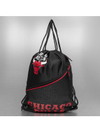 Forever Collectibles Sacchetto NBA Diagonal Zip Drawstring Chicago Bulls nero