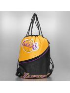 Forever Collectibles Sacchetto NBA Diagonal Zip Drawstring LA Lakers nero