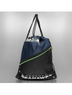 Forever Collectibles Sacchetto NFL Diagonal Zip Drawstring Seattle Seahawks nero
